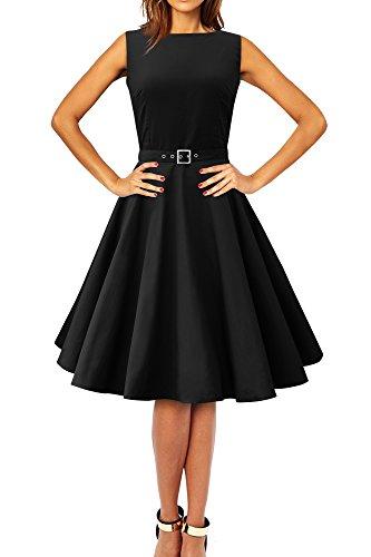 "Black Butterfly Abito vintage anni '50 ""Audrey"" Clarity (Nero, IT 46 - L)"