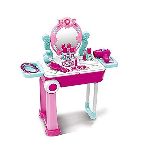 FTFTFTF Kinderspielzeug, kinderspielhaus, multifunktions Kosmetiktasche, gepäck Spielzeug, kindersimulation schminktisch, kleine Prinzessin Geschenk,1 (Kommode Gepäck)