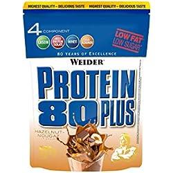 Weider, 80 Plus Protein, Haselnuss-Nougat, 1er Pack (1x 500g)