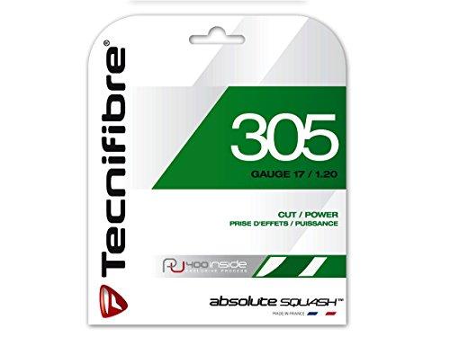 Preisvergleich Produktbild TECNIFIBRE Squashsaite TF 305 SQUASH Green,  1, 20mm,  9, 5 mtr Garnitur,  122370