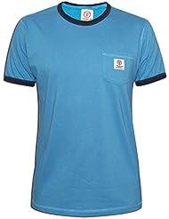 Franklin & Marshall Mens hellblau & Navy Rundhals T-Shirt