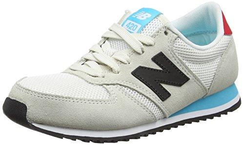 New Balance 420, Baskets Basses Mixte Adulte Blanc (White)