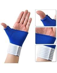 TOOGOO(R) Attelle poignet-pouce elastique/ Bande de soutien de poignet et de pouce/ Protege-poignet elastique hygienique