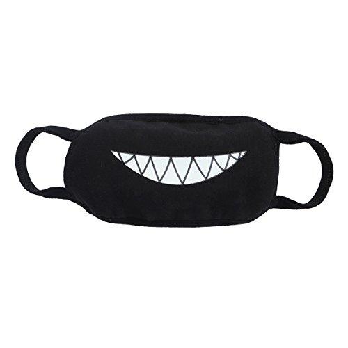 VORCOOL Halloween Luminous Mundmaske Baumwolle Zähne Leuchtende Gesichtsmaske für Männer Frauen