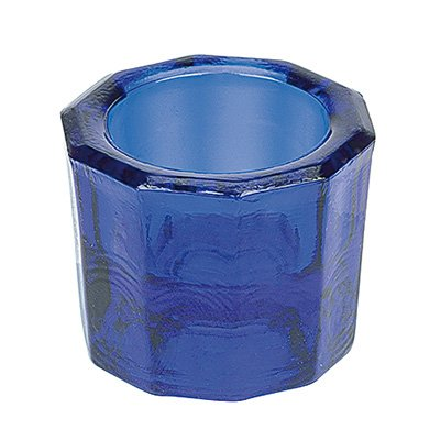 Dappenglas, zum anrühren mischen von Wimpernfarbe, Acrylpulver, Liquid, Dappen Dish Glas, Blau