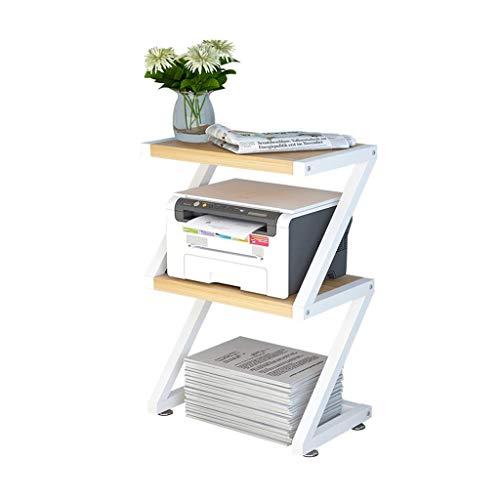 YWAWJ 3Tier Bücherregal Abstellflächen Bücherregal Leitergestell Anzeige Regale Easy Home Schlafzimmer Dekorative Blumenständer - Bürodrucker Stand - Desktop-Regal Storage Rack