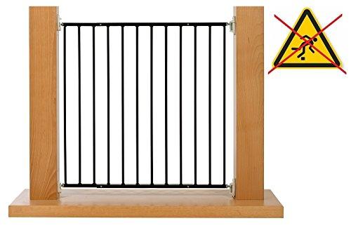 Impag Outdoor Schwarz Türschutzgitter Treppenschutzgitter Absperrgitter von 88 - 140 cm