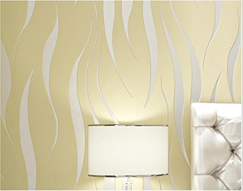 Anjz@Moderne Luxus Abstrakte Kurve 3d Tapete Rolle Beflockung für Striped/Size?10m (32,8 ft) lang, 52cm (20,5 Zoll) breit