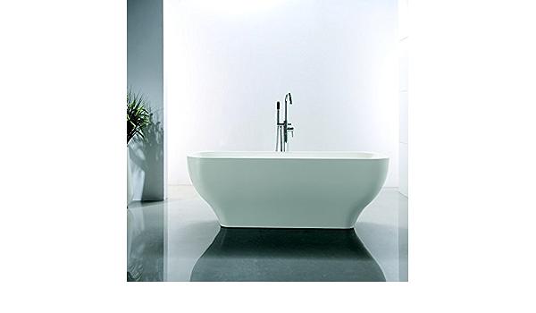 Baignoire Ilot Ovale 170x70 Cm Acrylique Blanc Edge Amazon Fr Cuisine Maison