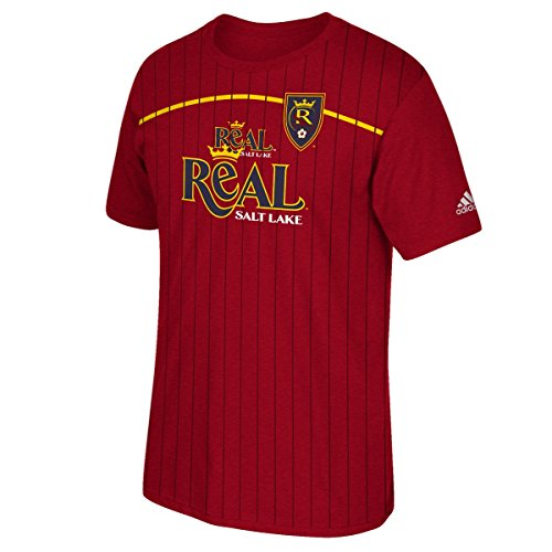 Real Salt Lake Adidas MLS Performance Men's Short Sleeve Jersey T-Shirt (Shirt Sleeve Short Lake)