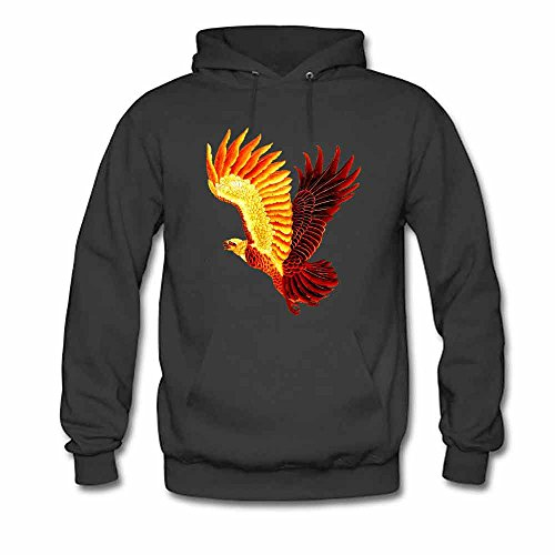 Flaming Phoenix graphic printed Women's Cotton Hoodie XXXL