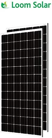 Loom solar 375 watt - 24 Volt Mono crystalline Panel (Pack of 2)