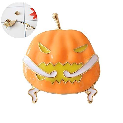 Netter 1PC Emaille Revers Pin Kürbis-Geist-Brosche Halloween Brosche Kostüm Charm Schmuck-Geschenk (Kürbis)