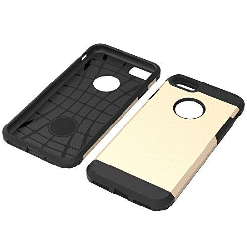 GHC Cases & Covers, Für iPhone 7 Trennbares Corselet TPU + PC Kombi-Gehäuse, Kleine Menge Empfohlen vor iPhone 7 Starten ( Color : Pink ) Gold