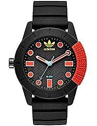 adidas Originals Montre homme en caoutchouc noir et rouge ADH3176