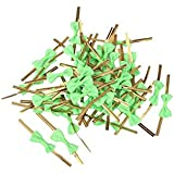 Rethinkso Regalo de Bowknot de 50pcs Rose que envuelve los lazos metálicos de la torcedura para los bolsos del caramelo de la galleta de la panadería del partido size 50pcs (green)