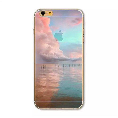 LaiXin Coque Paysage iPhone 6/6s Bumper Case Silicone en Souple Doux TPU + PC 2 in 1 Hybride Plastique Ultra-Slim Premium Anti-Rayures Anti Poussière Housse de Protection avec Motif Imprimé - Forêt Br A06