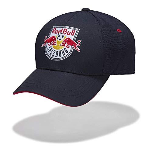 Red Bull Salzburg Crest Cap, Blau Unisex One Size Kappe, FC Salzburg Original Bekleidung & Merchandise