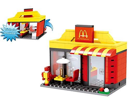 Modbrix City Bausteine BurgerLaden, 192 teiliges Konstruktionsspielzeug - 2