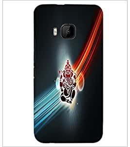 PrintDhaba Lord Ganesha D-4532 Back Case Cover for HTC ONE M9 (Multi-Coloured)