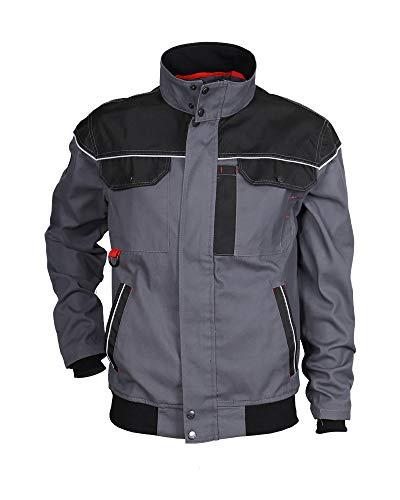 Stenso Ultimate - Arbeitsjacke mit multifunktionellen Taschen - Grau/Schwarz 52