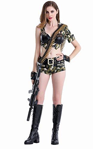 Kostüm Weibliche Militärischen - HAOBAO Sexy Uniform Halloween Party Pack MilitäRische Leistung Pack, S