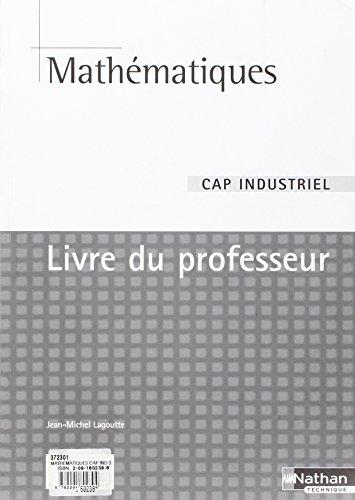 MATHEMATIQUES CAP IND (DET) PR
