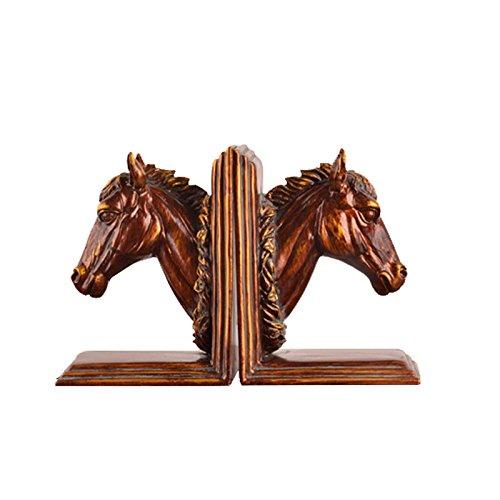 XXYUHA Dekoratives Handwerk Buchen Sie durch das Büro Practical Horse Handwerk Home Decoration Buchstützen Bookstore Studie geben Lehrer Geschenk Harz Statue -