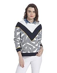 VERO MODA Womens Cotton Sweatshirt (10181761_Snow White_S)