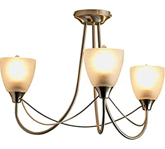 argos home symphony 3 light ceiling fitting 3 frosted. Black Bedroom Furniture Sets. Home Design Ideas