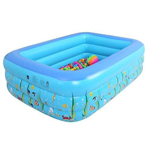 Planschbecken, 1.2M DREI-Ring-Baby-aufblasbarer DruckSwimmingpool PVC, Das Swimmingpool Für Familien-Kinder Spielt