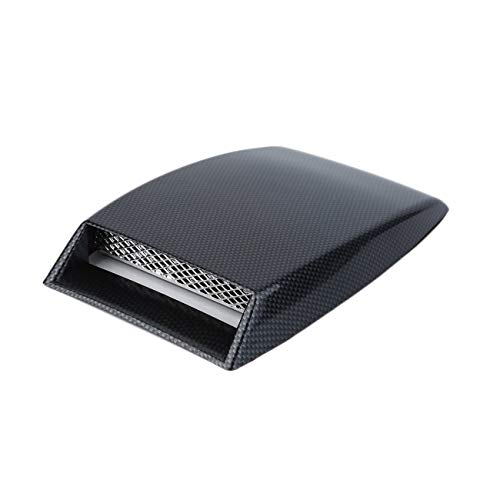 Elviray Car Styling Universal Dekorativer Lufteinlass Scoop Turbo Bonnet Vent Cover Hood schwarz Car Styling (Vent Motorhaube Cover)