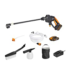 WORX WG620E.4 18V (20V Max) Cordless Hydroshot Portable Pressure Cleaner Kit with 2 Batteries