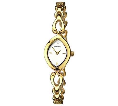 Sekonda Ladies 'argent Cadran blanc plaqué or Bracelet de montre