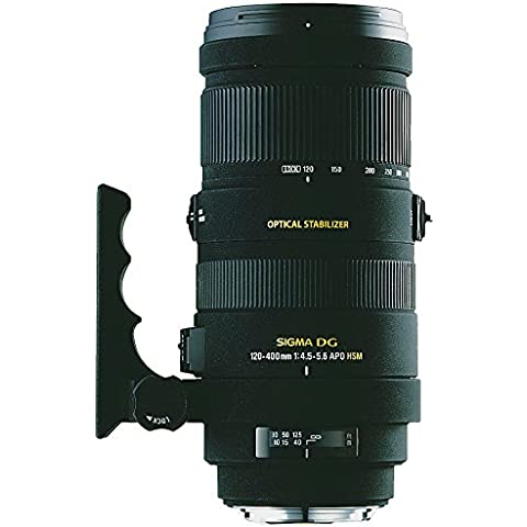 Sigma 120-400 / 4,5-5,6 DG OS APO HSM - Objetivo para Nikon (distancia focal 120-400mm, apertura f/5.6, estabilizador) color negro