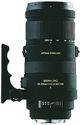 Sigma 120-400 mm F4,5-5,6 DG OS HSM-Objektiv (77 mm Filtergewinde) für Nikon Objektivbajonett