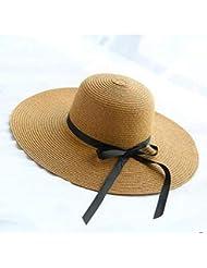 PVOWEJF Sombrero de Playa Sombrero para el Sol Sombreros de Verano para Mujeres Sombrero de Playa