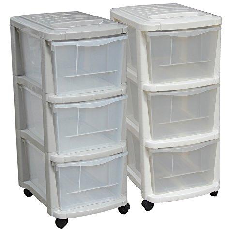 M-Home Schubladenrollwagen mit 3 Schüben in Grau