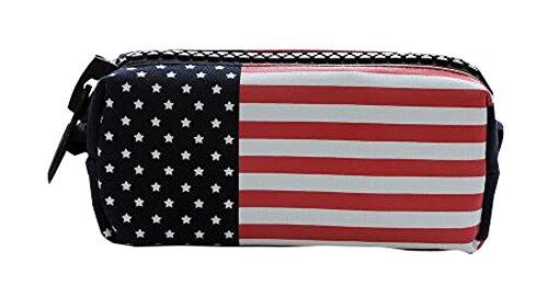 Trousses Creative mignon de drapeau américain Student Pen Trousses