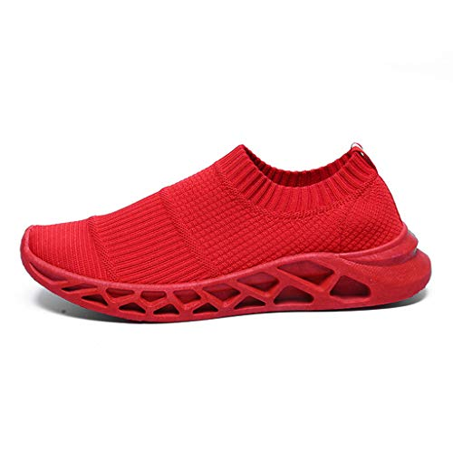 LILIHOT Herren Socken Schuhe leichte atmungsaktive Fliegende Turnschuhe EIN Pedal Laufschuhe Mode Wilde Freizeitschuhe leichte atmungsaktive Sportschuhe Outdoorschuhe mit Freizeitschuhen - Leichte Gummi Sohle Mokassins
