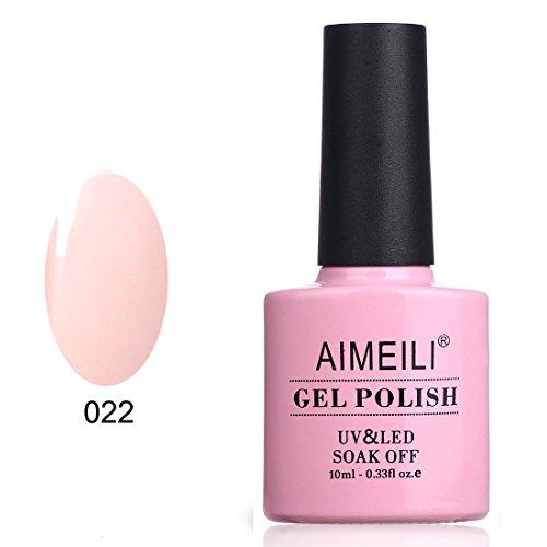 AIMEILI Soak Off UV LED Smalto in Gel Semipermanente - Rose Nude (022) 10ml