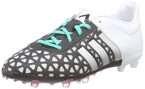 adidas Ace 15.1 Fg/Ag, Chaussures de Football Garçon Multicolore (Core Black/Matte Silver/Shock Mint)
