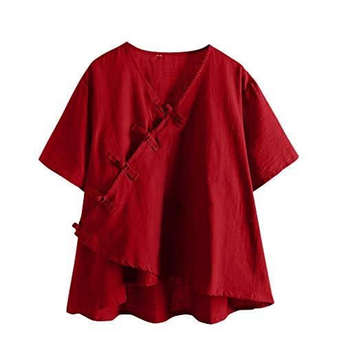 BOLANQ Damen Damen Ich Liebe Dich 3000 Mal Drucken Kurzes T-Shirt Kurzarm Casual Bluse