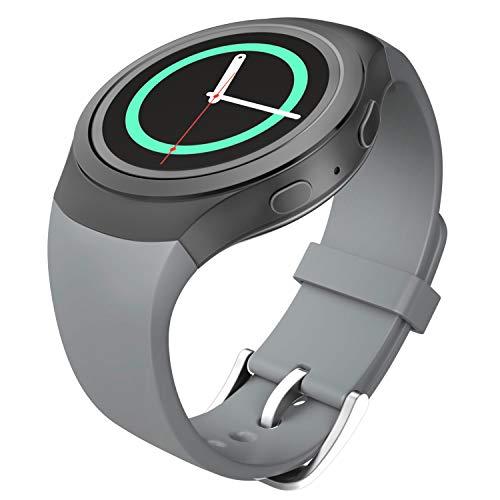 MoKo Samsung Watch Bracciale, Morbido Cinturino Sportivo di Ricambio in Silicone per Samsung Galaxy Gear S2 Smart Watch, GRIGIO (Non adatto a Gear S2 Classic SM-7320 Versione)