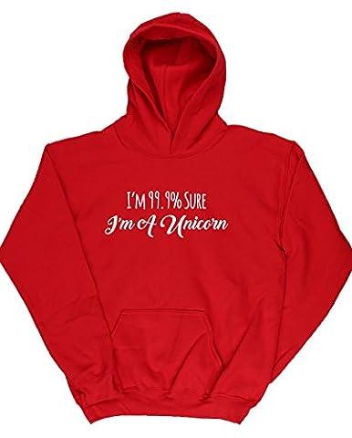 HippoWarehouse - Sweat-shirt à capuche - Fille - rouge - 4 ans