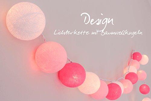 Lichterkette 'Mädchenzimmer' mit Kugeln aus Baumwolle - Cotton Ball Lights, Innen (20 Kugeln)