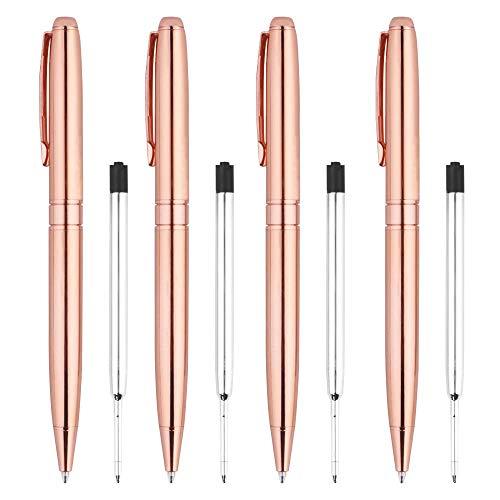 TOOGOO Kugelschreiber, Rose Gold Stifte Für Frauen Schwarze Kugelschreiber Für Hochzeits Planer Büro Bedarf Ausgefallene Stifte