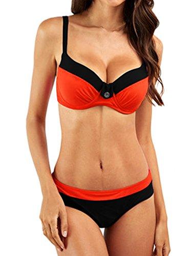 Aitos Bikini Damen Sets Badeanzug Push up Sexy Bademode Zweiteiler Vintage Swimsuits Swimwear Beachwear Sommer Strand