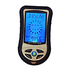 41lKEFOniHL. SS300  - Digital LCD 8 In 1 /Compass+Altimeter+Barometer+Thermometer+Weather Forecast+History+Clock+Calendar for Hiking Hunting TAT-302