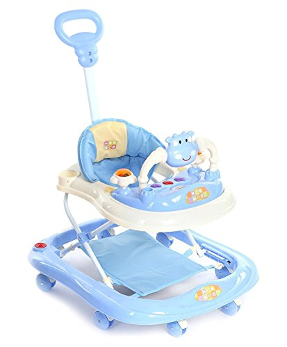 Mee Mee Baby Walker with Adjustable Height and Push Handle...